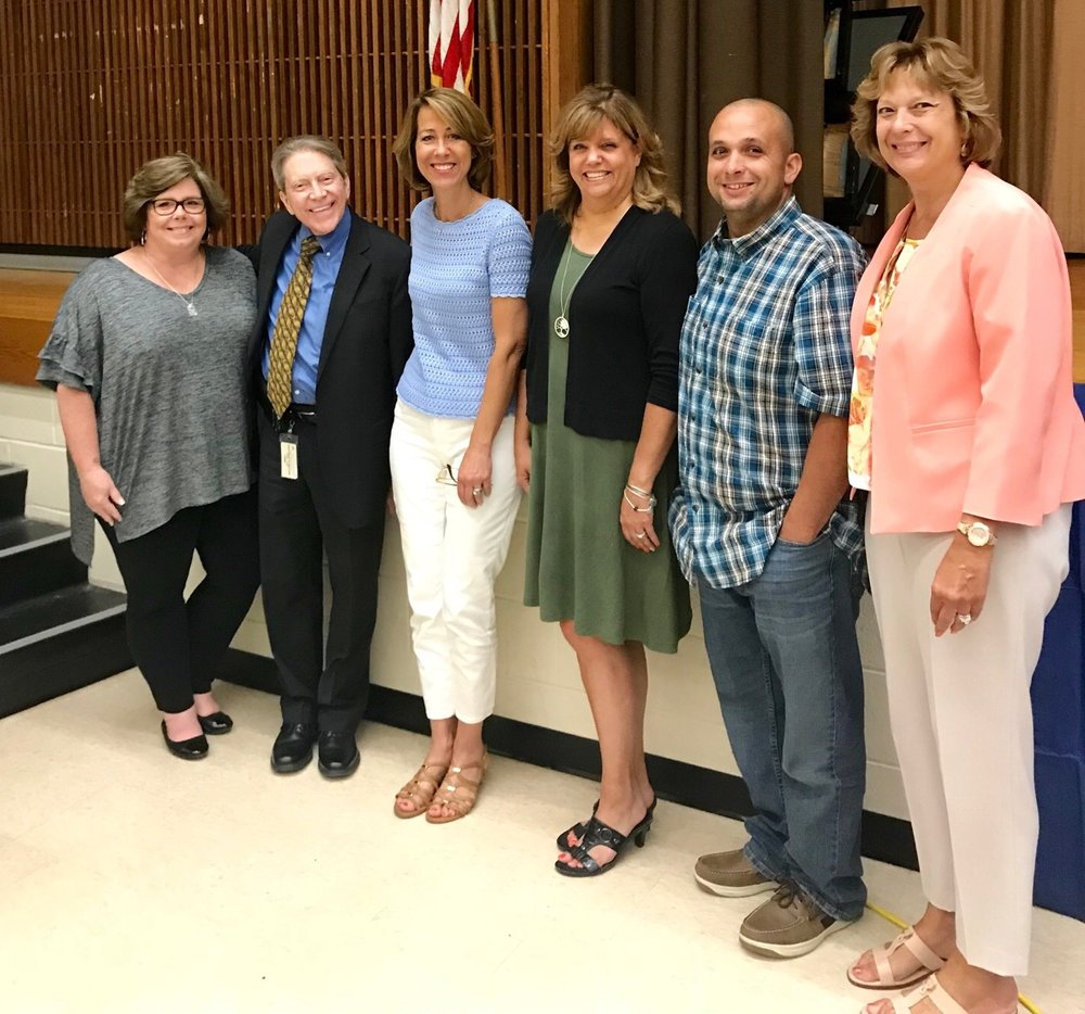 Left to Right: TCCP Board Treasurer Alayne Eisloeffel, Pine Bush Schools Superintendent Timothy Mains, TCCP Board President Annette  Kahrs, TCCP Board Secretary Bethany Ganley, TCCP Board member James Waterman, Pine Bush Schools Assistant Superintendent for Instruction Donna Geidel.
