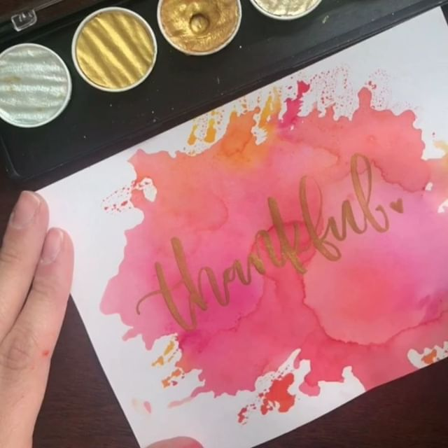 Went straight from a Halloween post  to a thanksgiving one after taking a nice, and much needed, break from my social media. Feeling thankful for my babies, my family, good friends, and all of YOU that continue to encourage me to keep up this lettering thing. It's so easy to get discouraged and feel inadequate/not as talented when you compare yourself (and your instagram 🙄) to some incredible creatives and lettering artists-there are SO many of us out there these days. My pictures aren't great, my feed isn't very cohesive, and i don't have a niche-but lettering brings me joy and I'm gonna keep on keeping on until it doesn't. Hope everyone has a wonderful thanksgiving holiday! ✌🏻🦃🥧