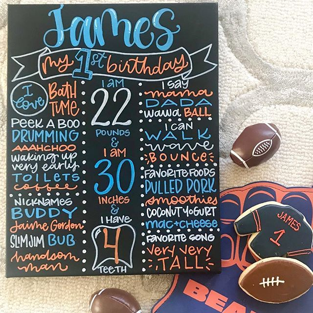 This birthday board was extra special to make. I can't even believe it. My little man turned ONE last week...how does time seem to go by so much faster with kid two?