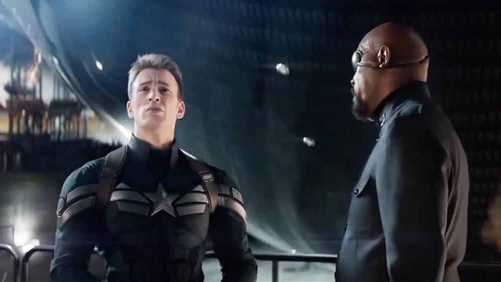 Steve Rogers expresses concern over SHIELD's violations of liberty in  Captain America: Winter Soldier