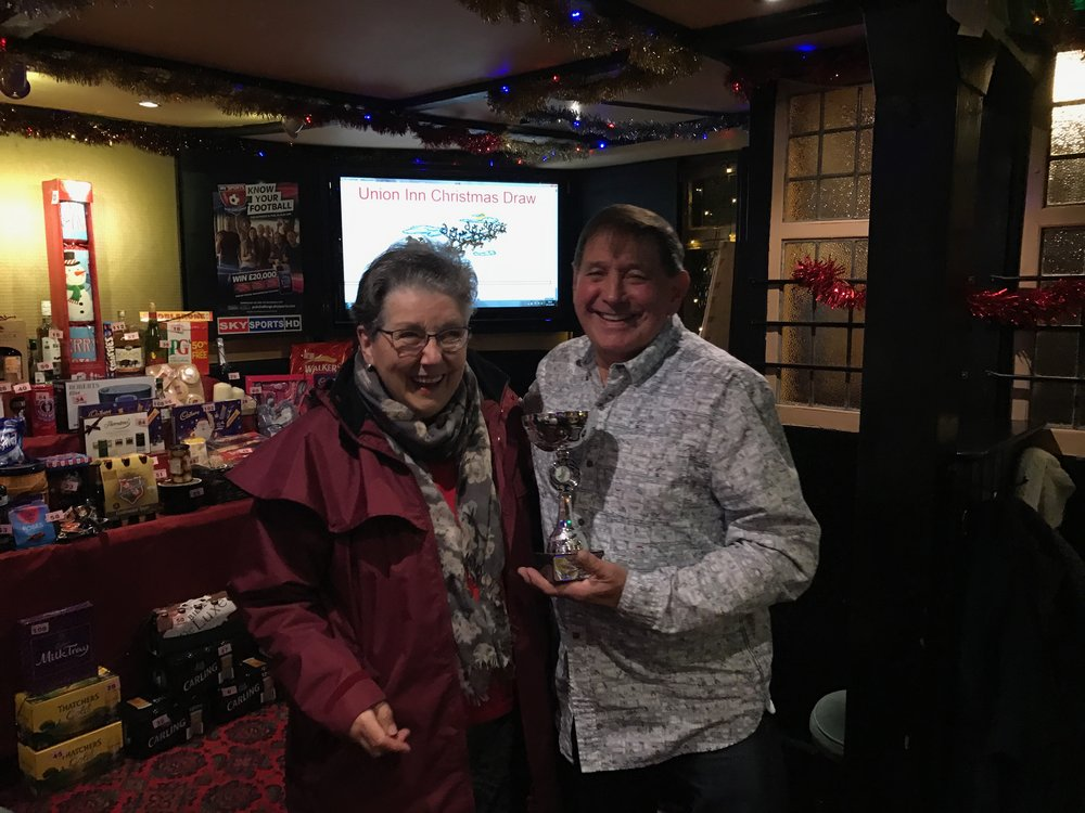 "Mrs Gloria Moore presented the 2016 winner, Lloyd Brimblecombe, with the Colin Moore memorial ""Runner Up"" trophy"
