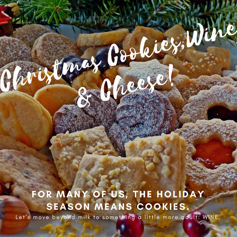 Christmas Cookies,wine and cheese.jpg