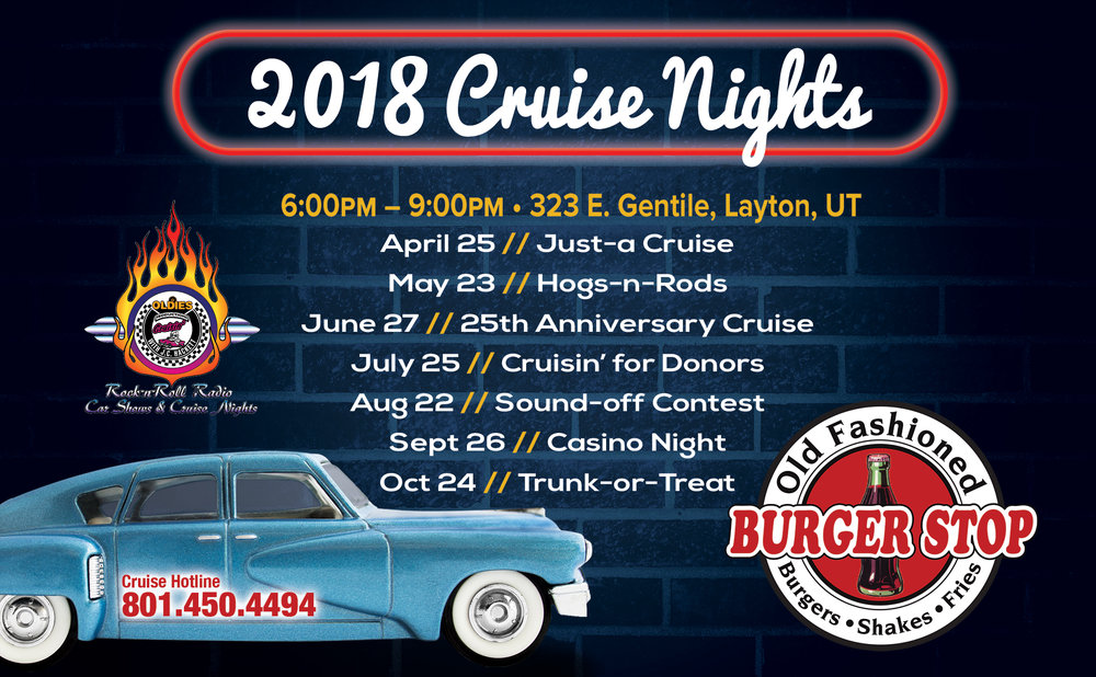 Cruise Night Car Shows Burger Stop Layton Ut 50s Diner Serving Breakfast Lunch Dinner