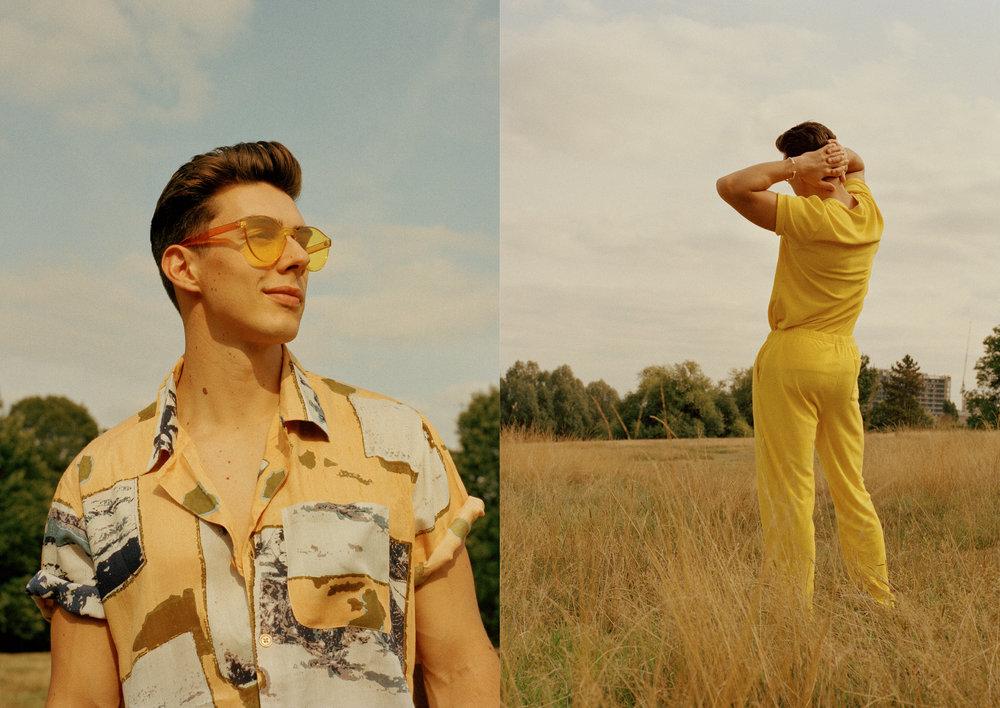 L: Shirt  SACRED HAWK  R: Outfit  AMERICAN APPAREL