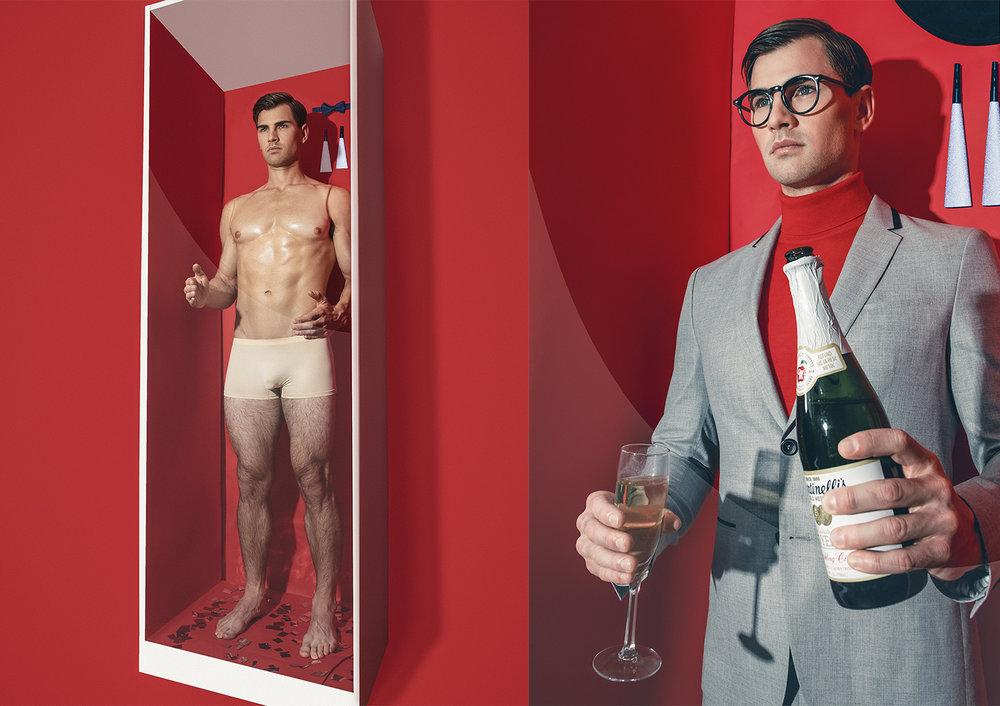 R: Suit  EMPORIO ARMANI  | Jumper  VERSACE