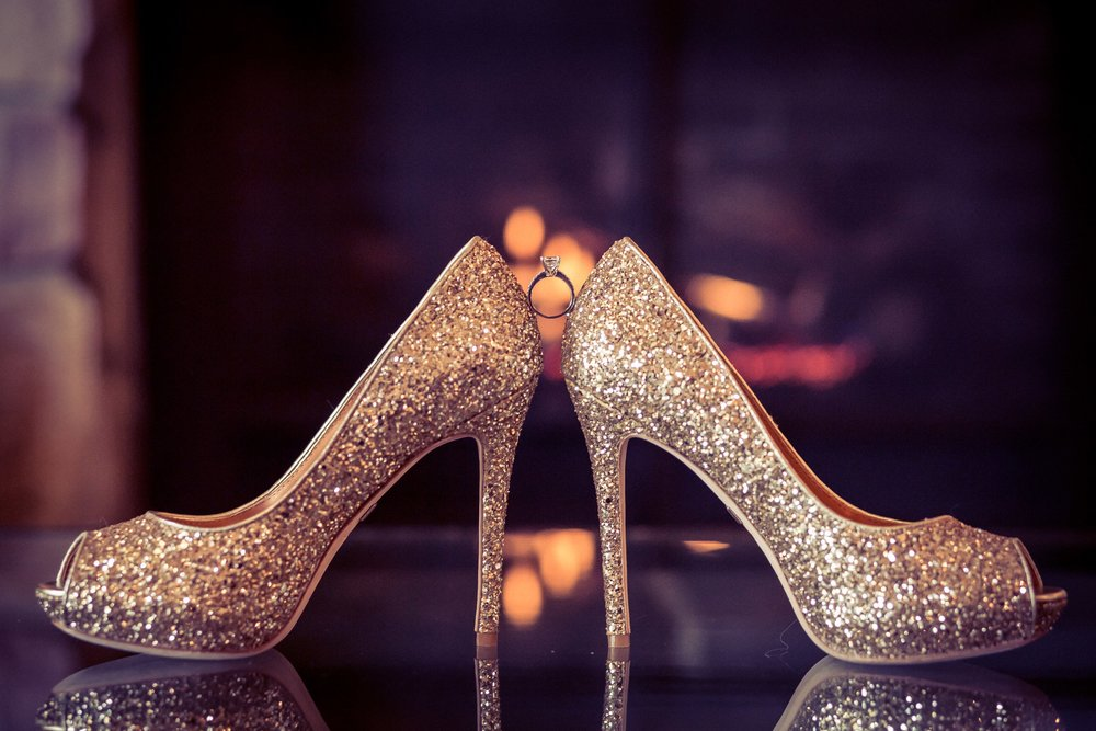wedding shoes with ring