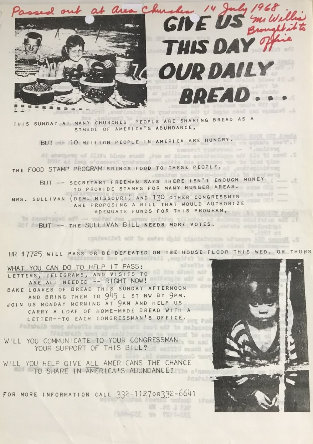 16 July 1968 Quaker Direct Action Corps Organized Re Increase In Food Stamp Program Dc1968 Project 365 Stories Washington Dc
