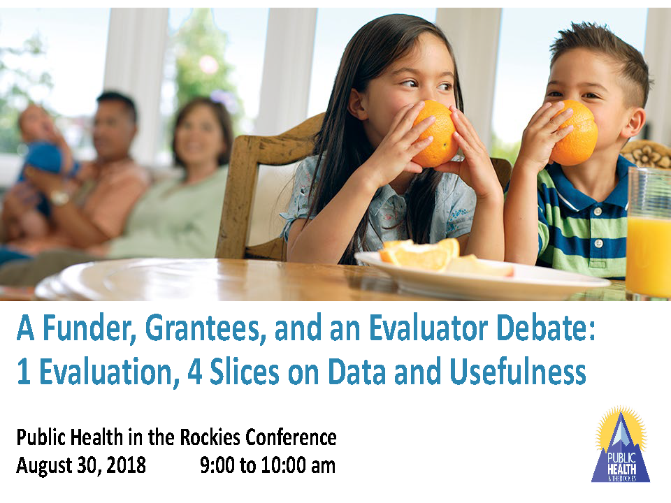 Funder, Grantees, and an Evaluator Debate Data Use 2018
