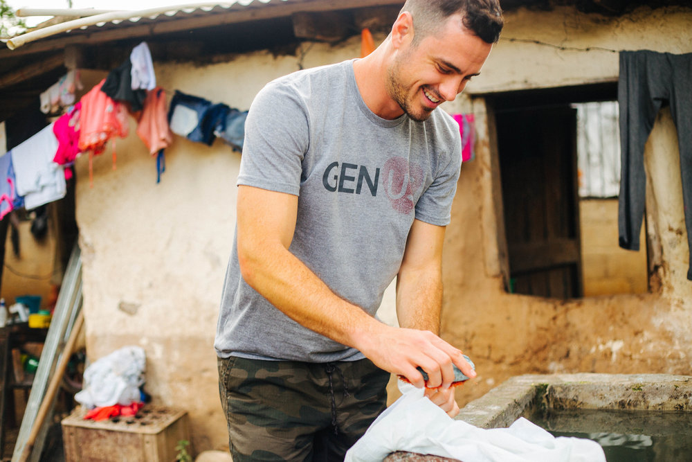 "Go Exchange T-shirts   Purchase a limited edition ""GEN US"" tee, and 100% of profit will go directly to help children and families in crisis around the world."