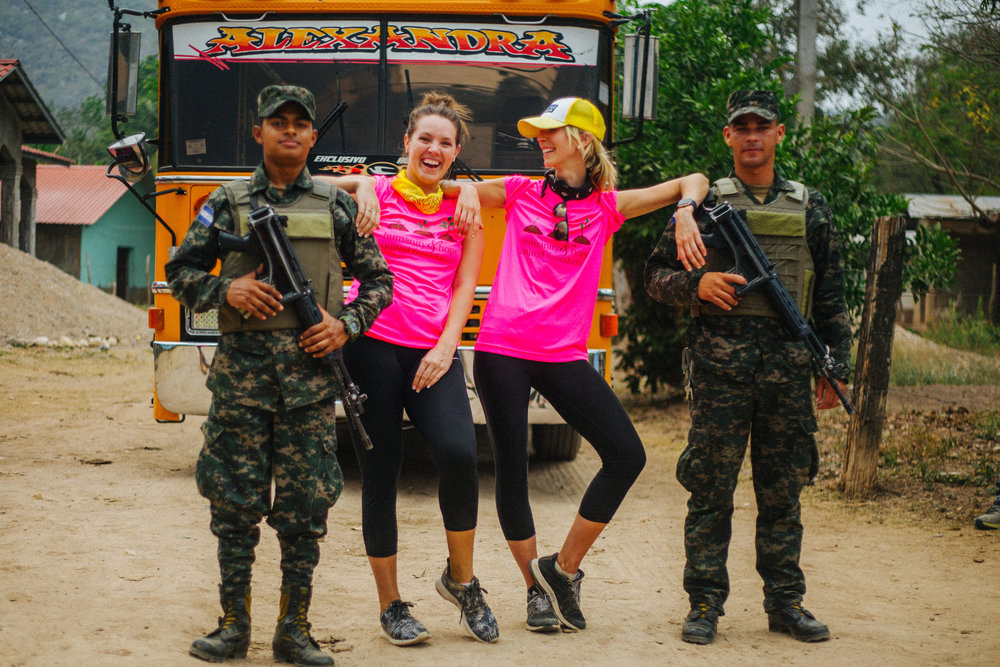 There can be times of civil unrest in Honduras, but our groups are always  in good hands with our military escorts and Honduran H&H Team.