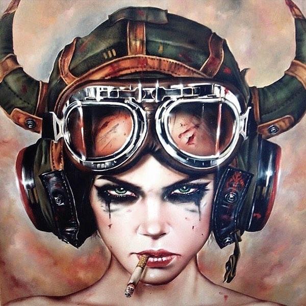 A real ride or die ________________________ Art by Brian M Viveros #bullfishmedia #sketch #artlover #media