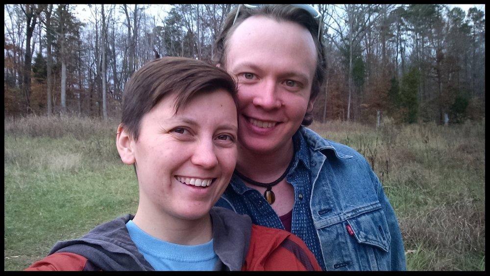 Robinson and Sara at Johnston Mill Nature Preserve.