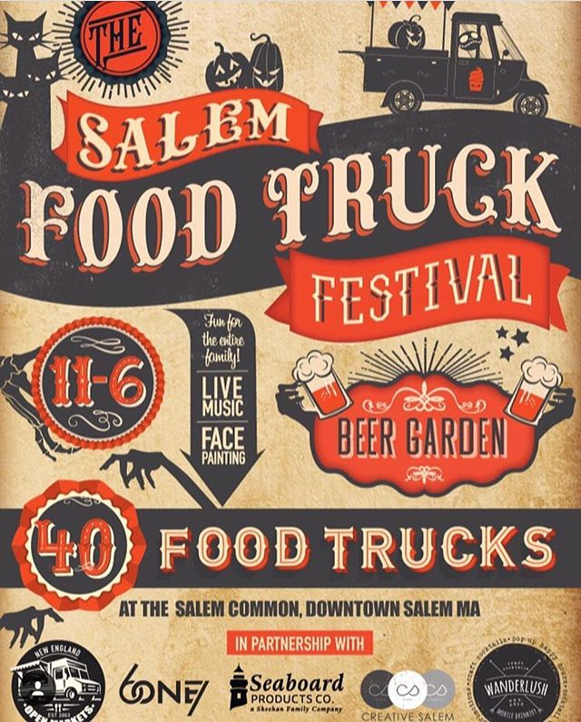 North Shore friends! Swing through Salem this weekend from 11-6 to eat from the best food trucks in the state, and sip some awesome brews! You can find us in the #BeerGarden!