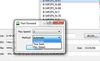 Configurable methods per media playback