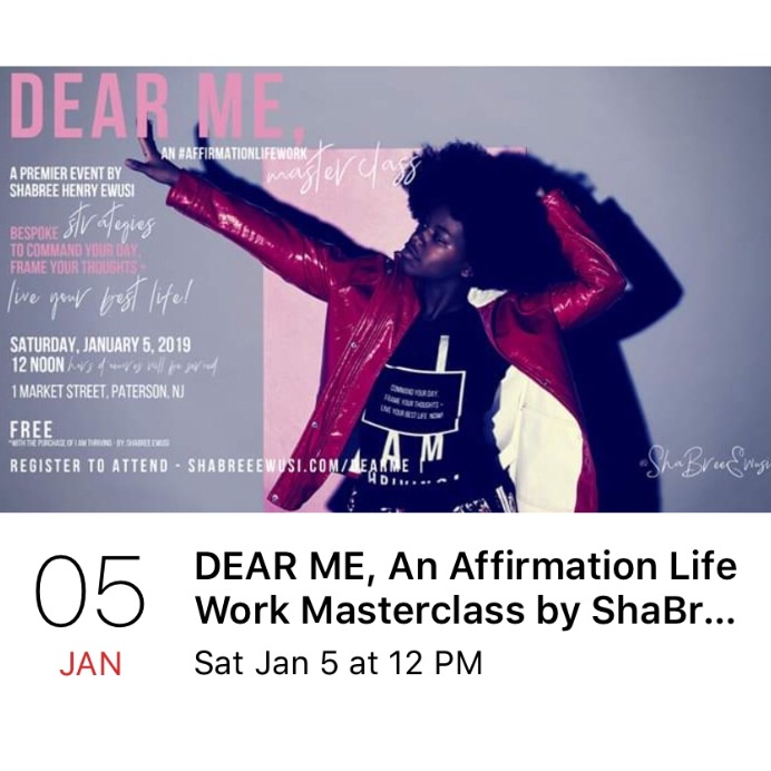 REGISTER TO ATTEND THE DEAR ME AFFIRMATION LIFE WORK MASTERCLASS TODAY! 🔗