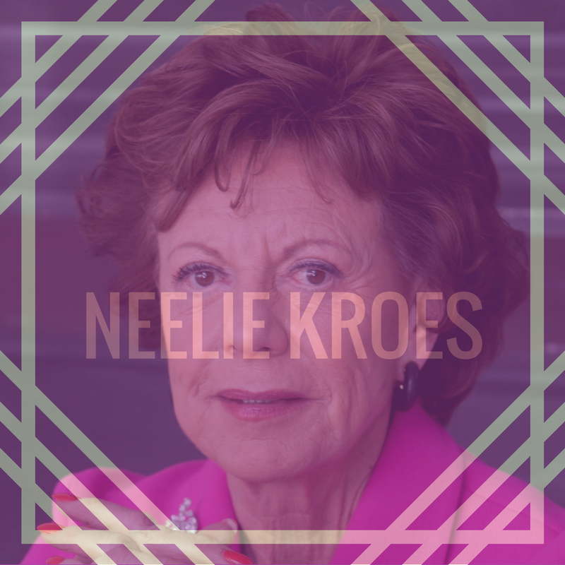 Neelie Kroes is the former European Commissioner for Digital Agenda (Feb 2010 — Nov 2014) and currently is in the Board of Salesforce and Uber.