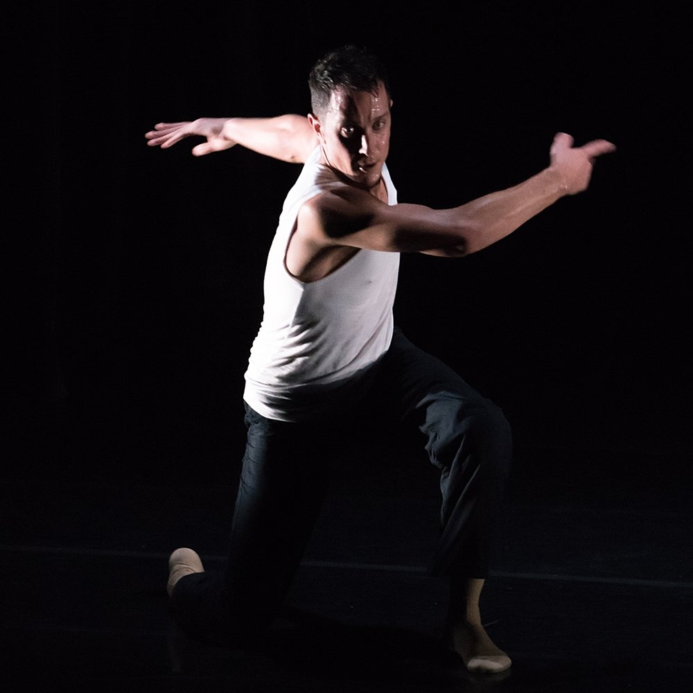 Douglas Gillespie  is a Brooklyn-based Artist, passionate in the making, teaching and embodying of dance as an art form. Gillespie is an avid dance maker, choreographing group works for Moving Current Dance Collective, Doug Varone DEVICES, and Sarasota Contemporary Dance. He has also created his own student commissions for Hillsborough Community College, Cleveland State University, University of Florida, and Santa Fe College; two of these works have premiered at American College Dance Association. In 2015 Gillespie created his first solo project  Echo  for Assembly Dance Theatre in Taipei, Taiwan. This project had its U.S. debut in 2016. Gillespie is an originating member and has been a creative contributor throughout Kate Weare Company's first decade, currently serving as Guest Artist. In this role, he teaches on behalf of the company and assists on commissions. Gillespie also teaches at colleges and dance centers around the world, most recently at The Juilliard School, NYU Tisch Summer Program, Mark Morris Dance Group, and National Taiwan University of the Arts. He is on faculty at Gibney Dance Center in New York. Gillespie has performed in Punchdrunk Emursive's  Sleep No More  and Third Rail Projects'  Then She Fell . Gillespie was born in San Diego, California, raised in Jacksonville, Florida, and received his BFA in Dance from Florida State University in 2005.