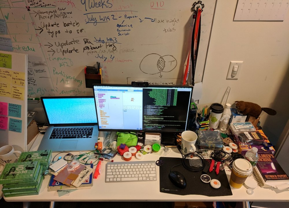 Kreg's desk at the MIT Media Lab