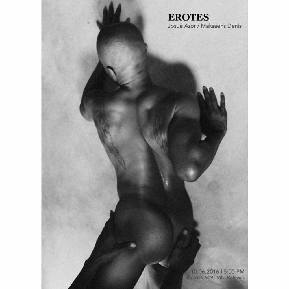 Poster for Erotes exhibition, 2016