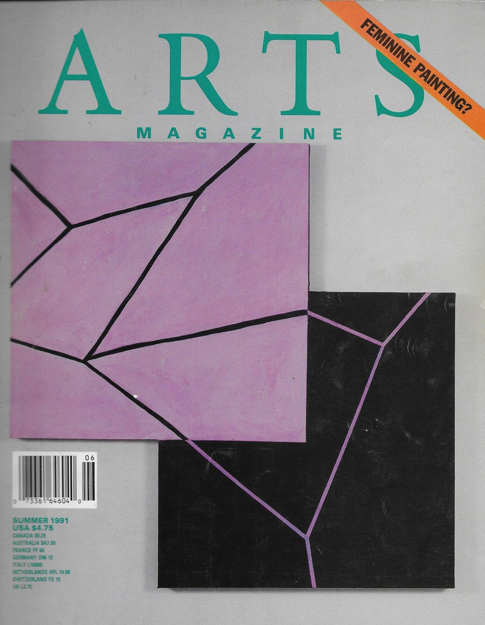 """Painting and its Others,"" as published in Arts Magazine, Summer 1991. Cover image: Mary Heilmann, Mode O'Day (1991). Oil on canvas, 54 x 64 inches."