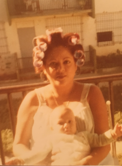 Figure 6. Photograph of the author as infant with her grandmother.