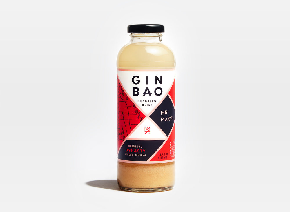 Mr. Mak's Dynasty Ginbao packaging designed by Abby Haddican at Werner Design Werks