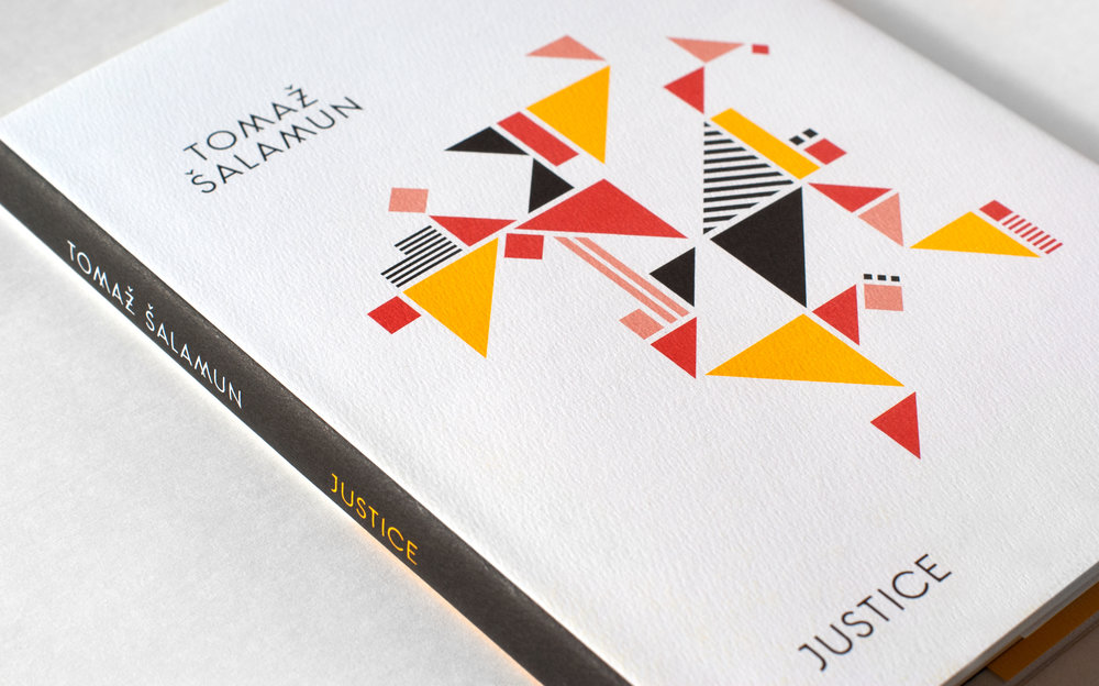 Justice by Tomaz Salamun, published by Black Ocean books. Book cover design by Abby Haddican.