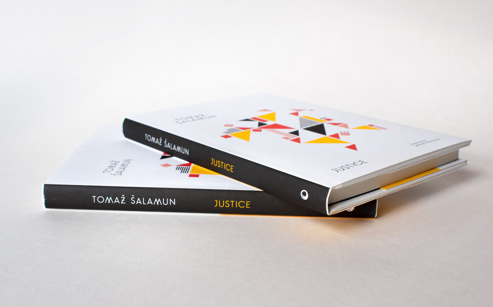 Justice by Tomaz Salamun, published by Black Ocean books  . Book cover design by Abby Haddican.