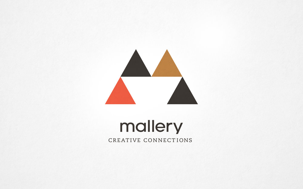 Mallery Creative Connections logo design by Abby Haddican.