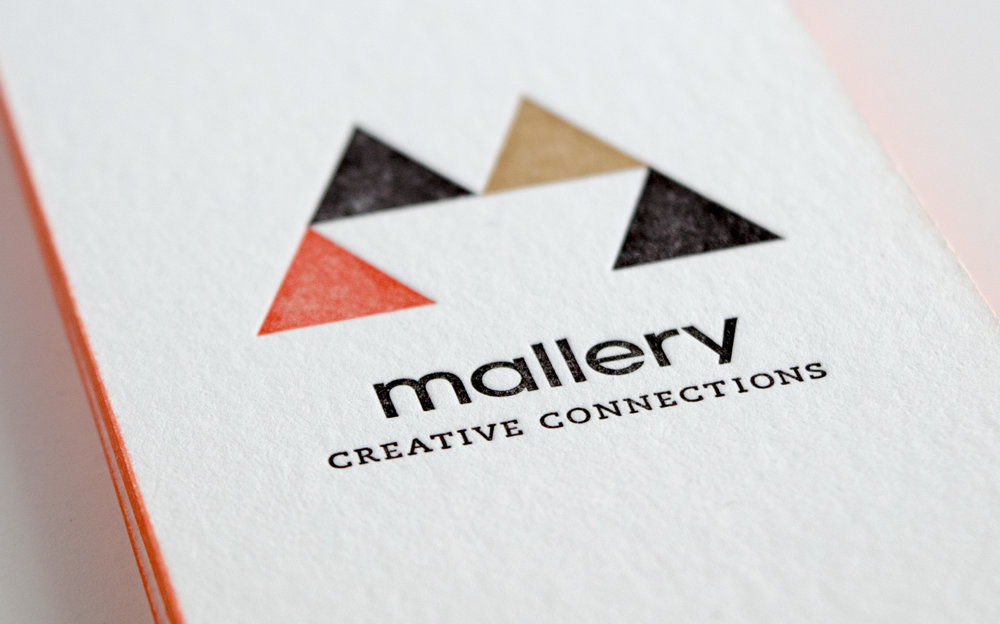 Mallery Creative Connections business card designed by Abby Haddican.