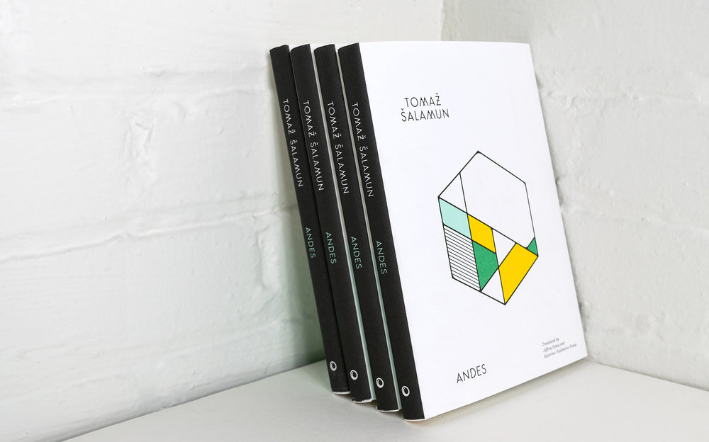 Andes geometric book cover design and typography by Abby Haddican