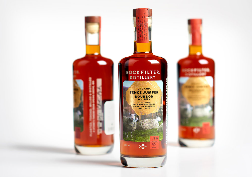 RockFilter Fence Jumper Bourbon packaging designed by Abby Haddican and Sarah Forss at Werner Design Werks