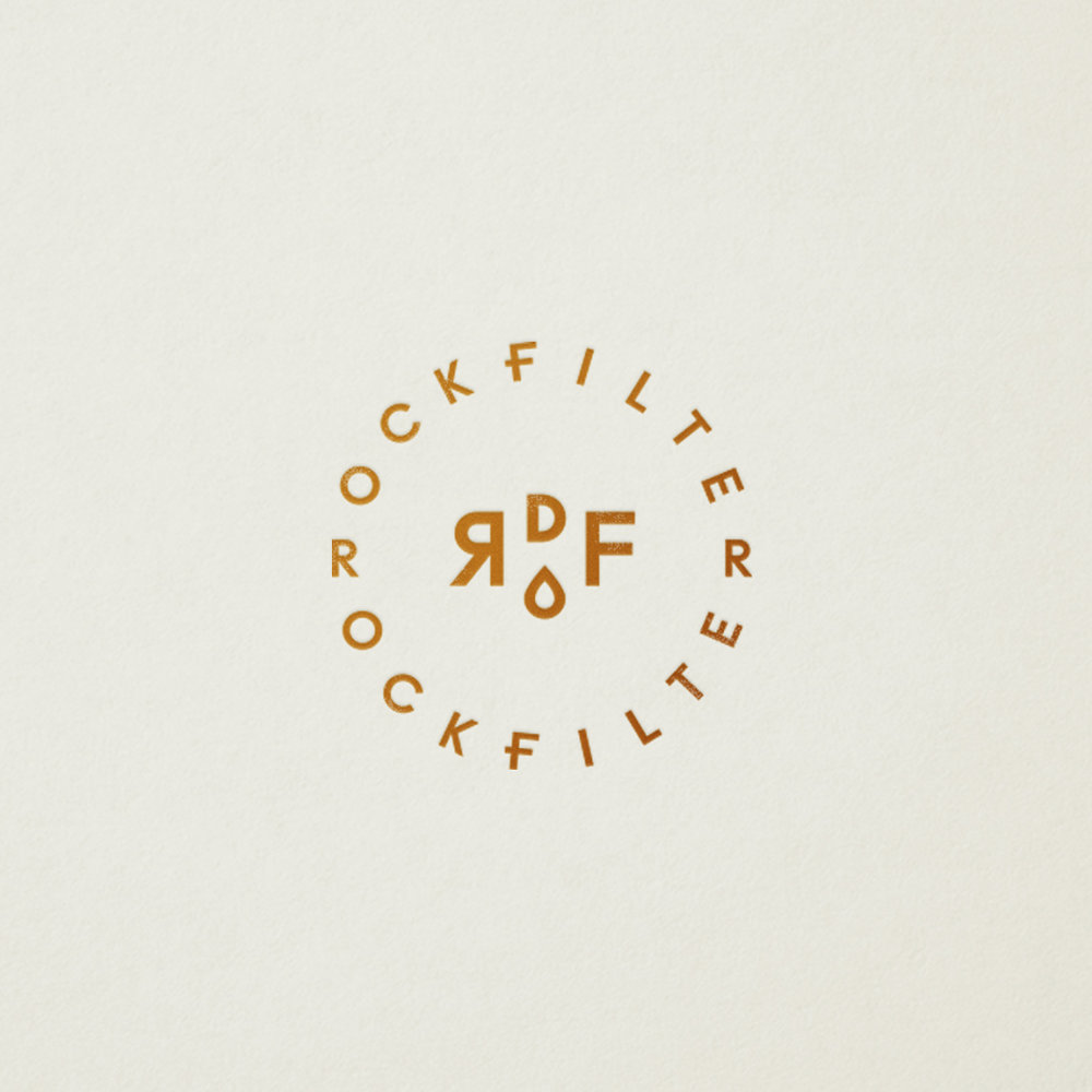 RockFilter logo designed by Abby Haddican at Werner Design Werks