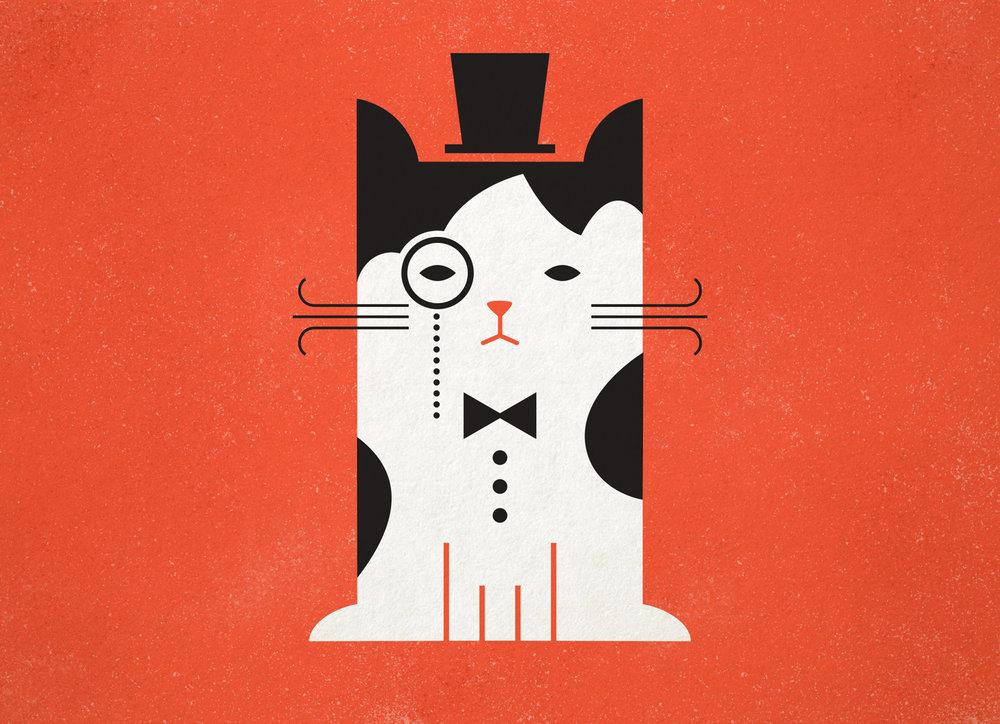 Cat illustration by Abby Haddican