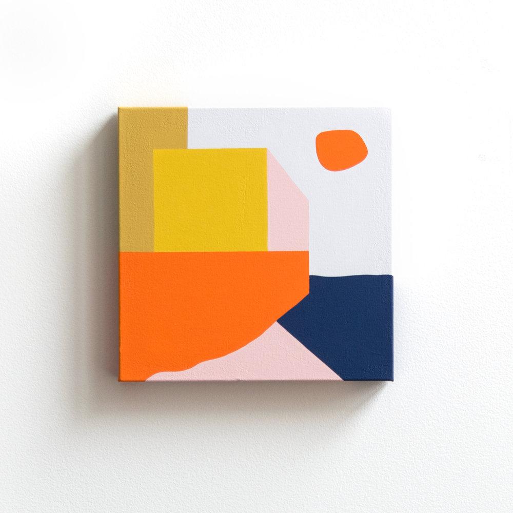 Imbroglio On The Riviera - 12x12in, acrylic on canvas, 2018