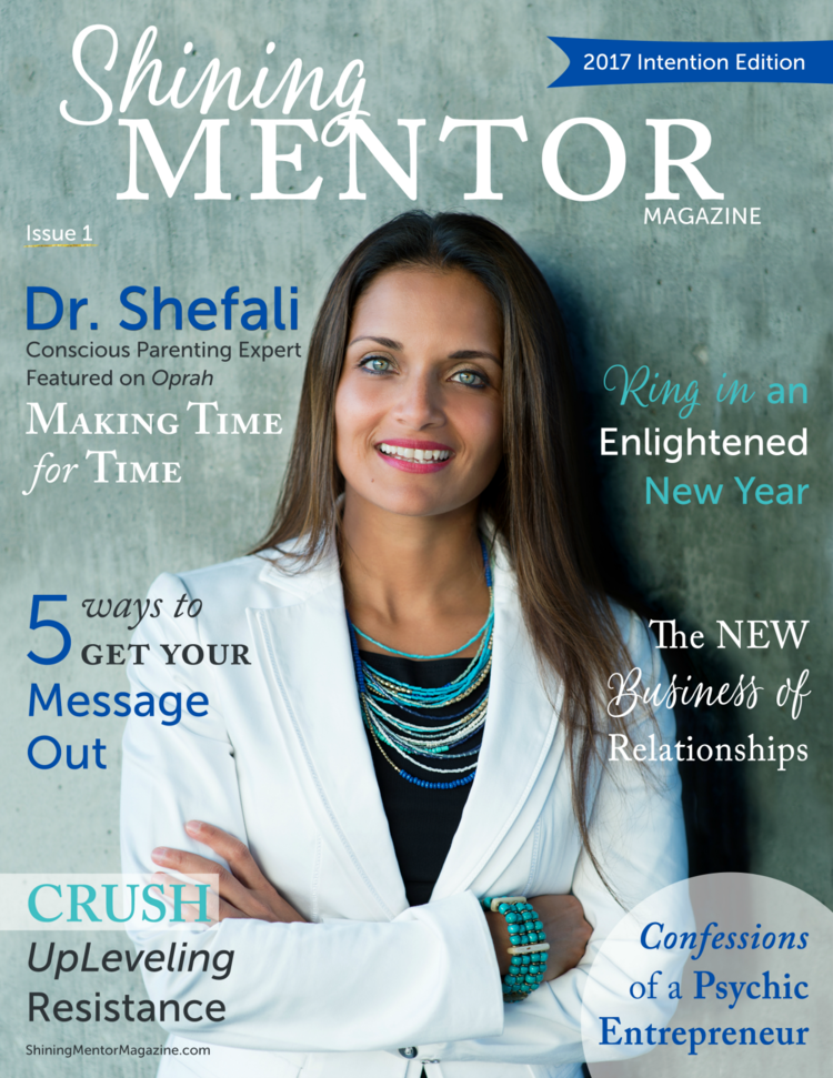 SHINING MENTOR MAGAZINE: LOGO + ISSUE 1 COVER