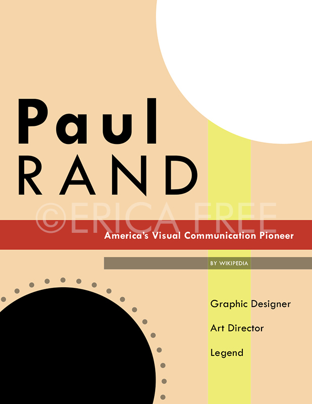 PAUL RAND - COVER MOCKUP (INDESIGN)