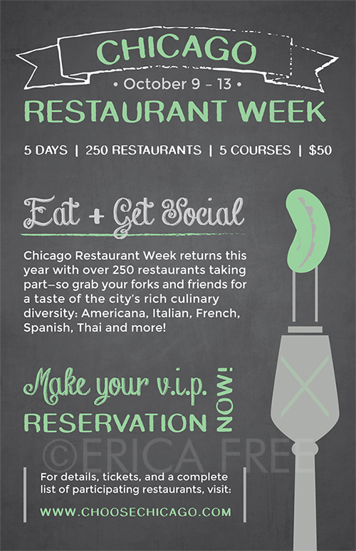 CHICAGO RESTAURANT WEEK POSTER MOCKUP (ILLUSTRATOR)