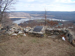"Strategic view of the ""S"" turn from Redoubt 4                                                        Vic Stony Lonesome, West Point NY"