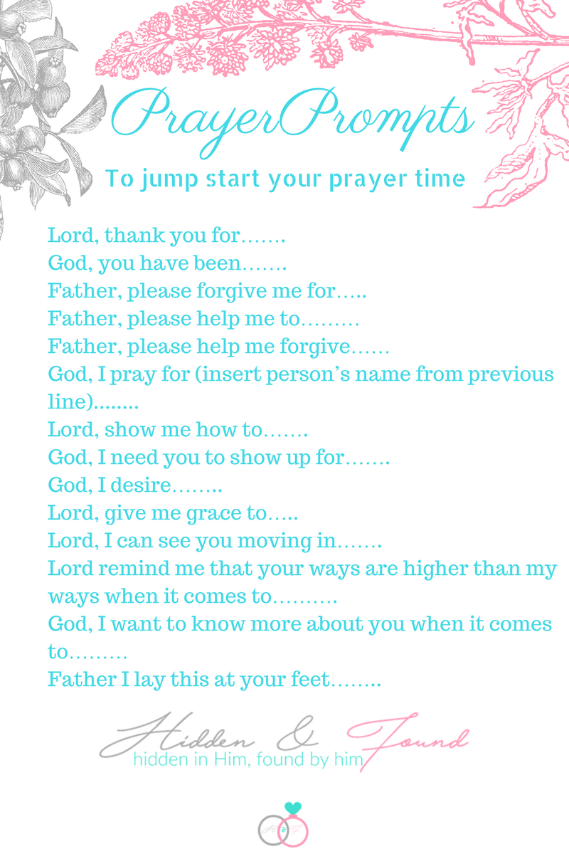 PRAYER PROMPTS