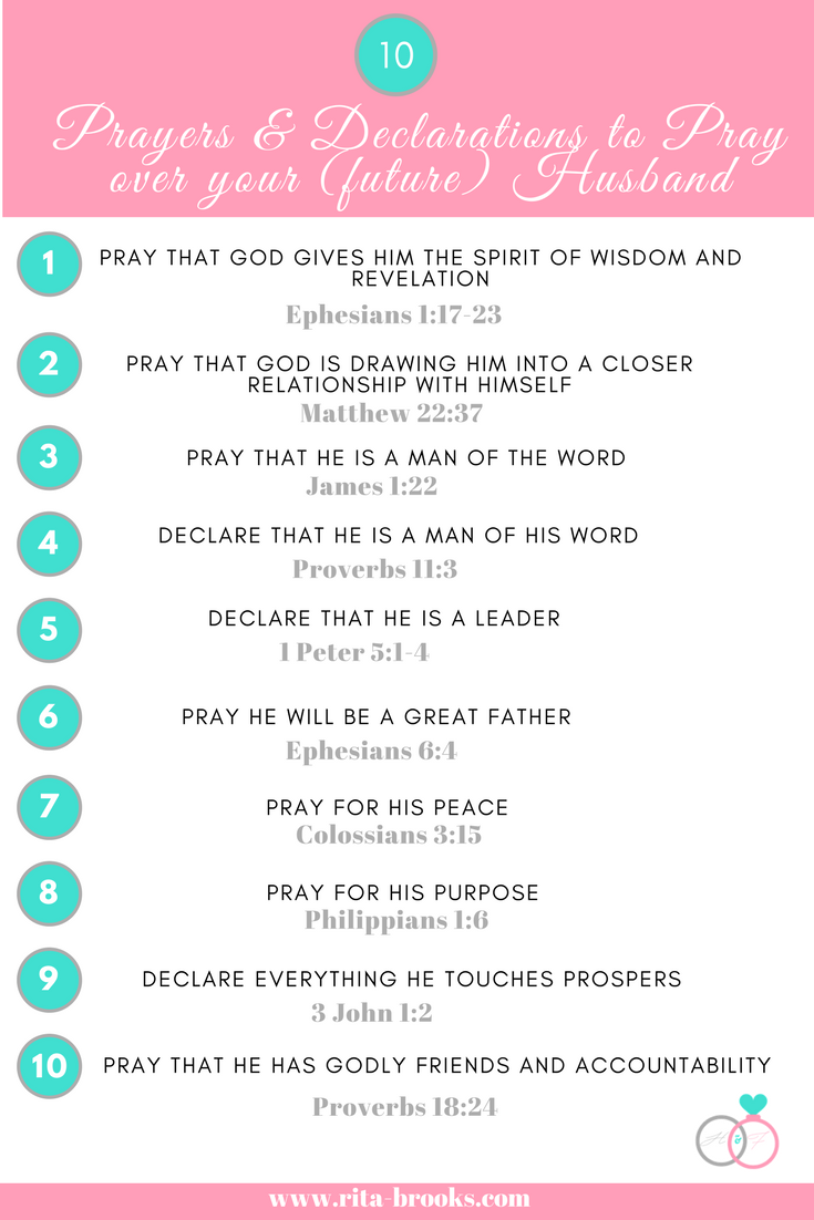 10 prayers & declarations to pray over your husband