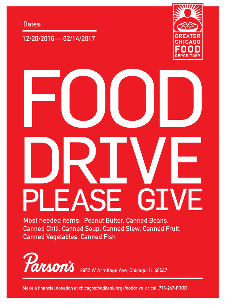 Parson S Food Drive Land And Sea Dept
