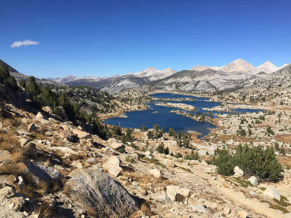 A serene late September day in the Sierra - no people on the trail besides a few late seasons JMT hikers.