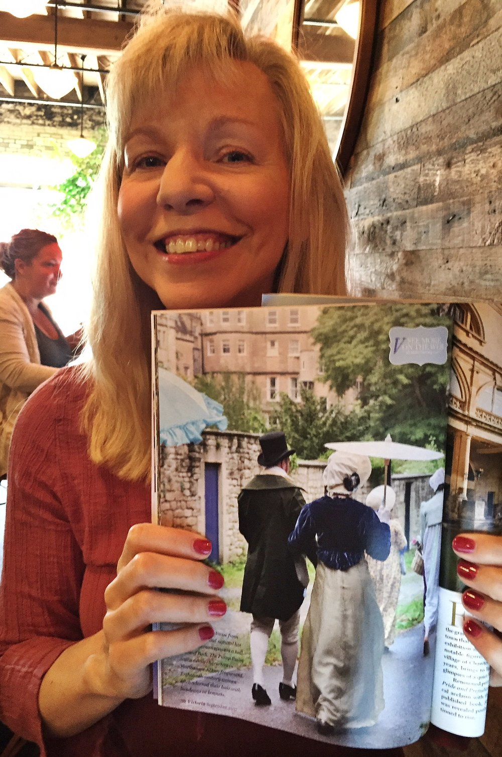 Check out the spread  Victorian Magazine  did on Julie during her recent visit to Bath, England