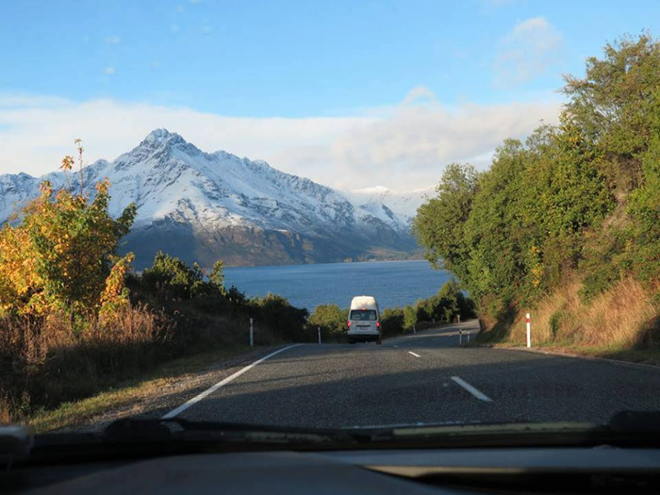 The road from Queenstown to Glenorchy