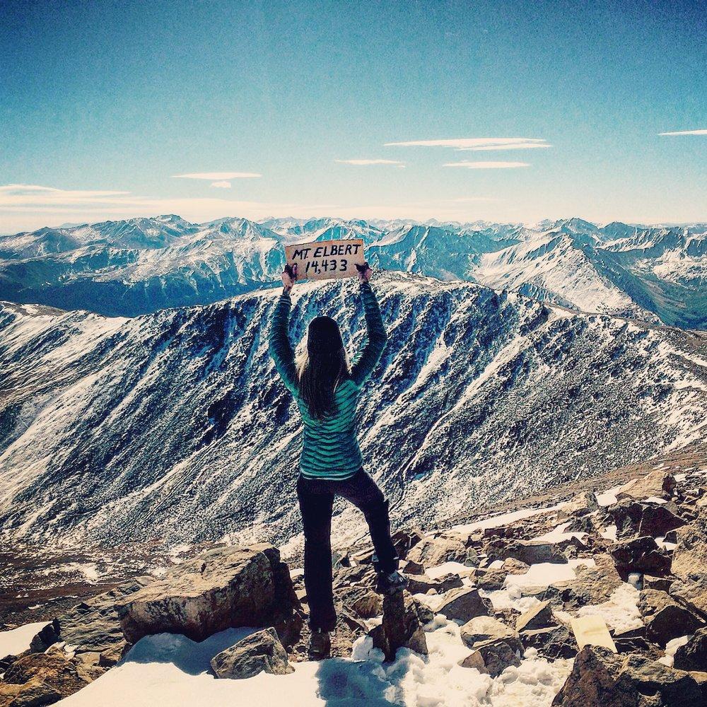 Mount Elbert summit at 14,433 feet