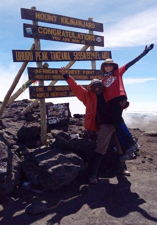Calvin and I at Uhuru Peak.