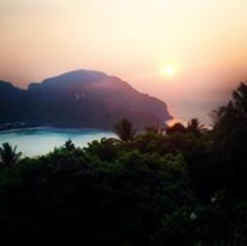 a beautiful hike at sunset