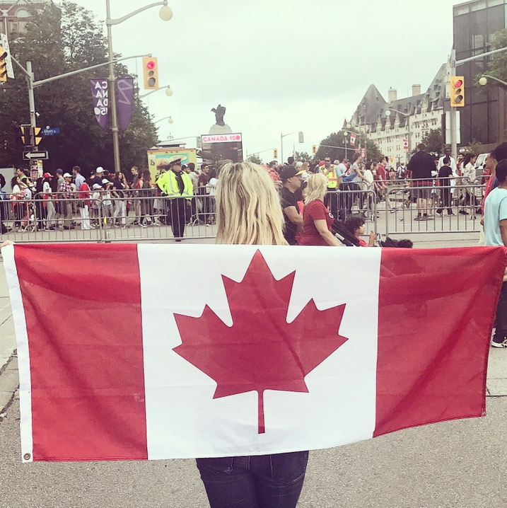 The Canada Day festivities in downtown Ottawa