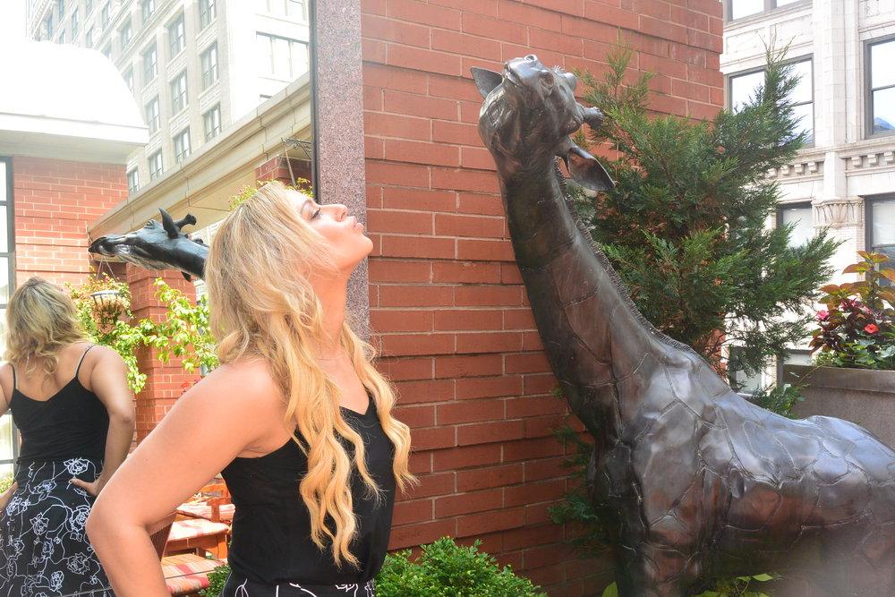 kissing giraffes at Hotel Giraffe